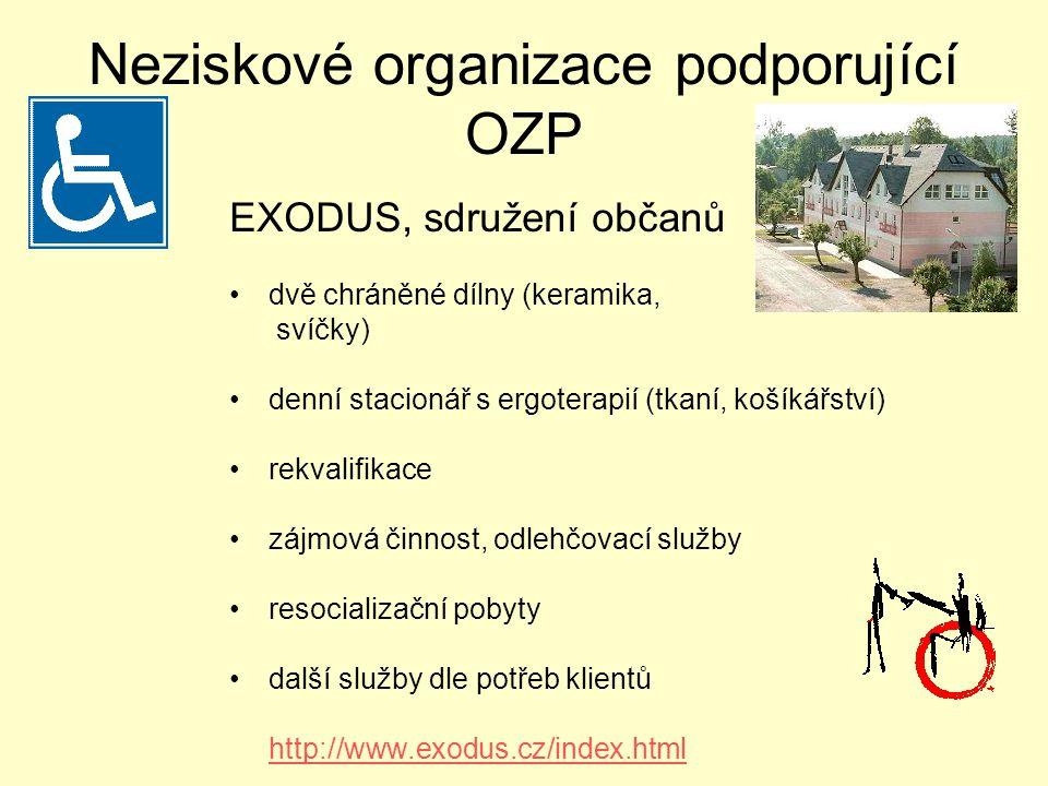 Neziskové organizace podporující OZP