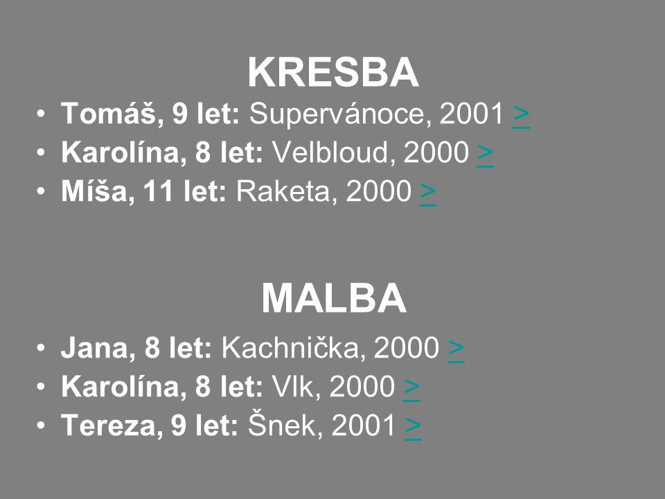 KRESBA MALBA Tomáš, 9 let: Supervánoce, 2001 >