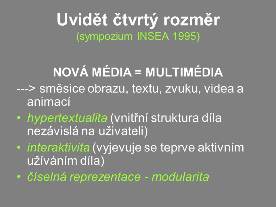 Uvidět čtvrtý rozměr (sympozium INSEA 1995)