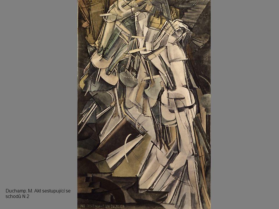 Duchamp, M. Akt sestupující se schodů N.2