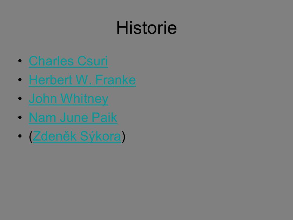 Historie Charles Csuri Herbert W. Franke John Whitney Nam June Paik