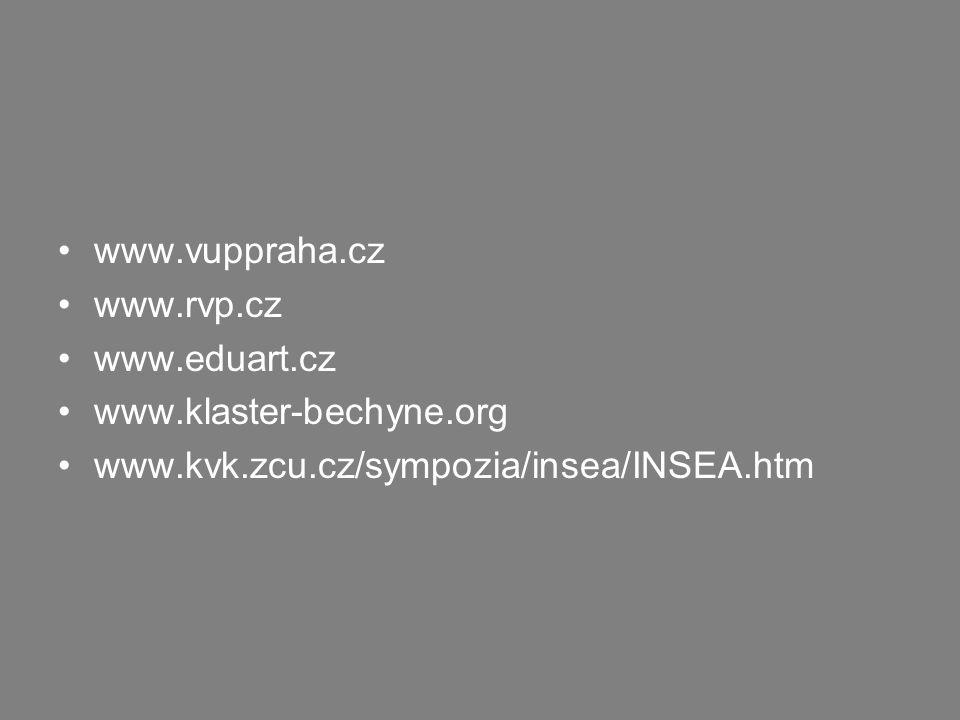 www.vuppraha.cz www.rvp.cz. www.eduart.cz. www.klaster-bechyne.org.