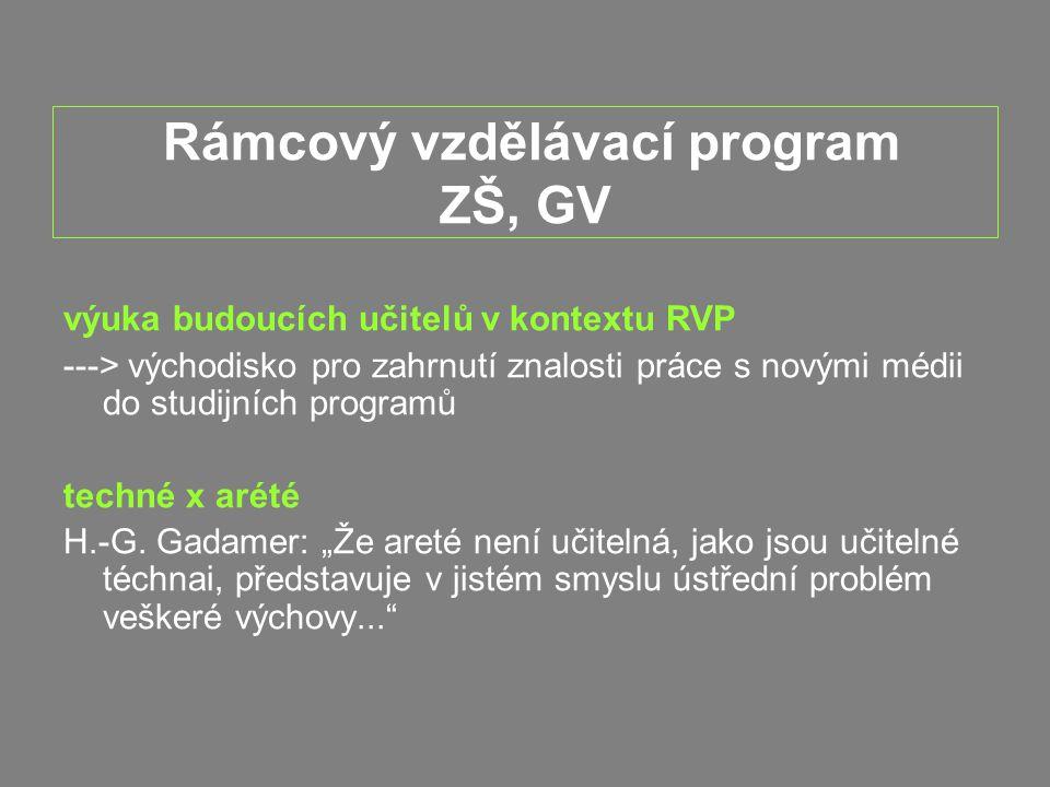 Rámcový vzdělávací program ZŠ, GV