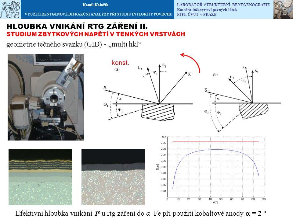 """geometrie tečného svazku (GID) - """"multi hkl"""