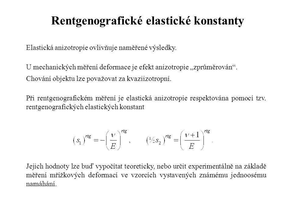 Rentgenografické elastické konstanty