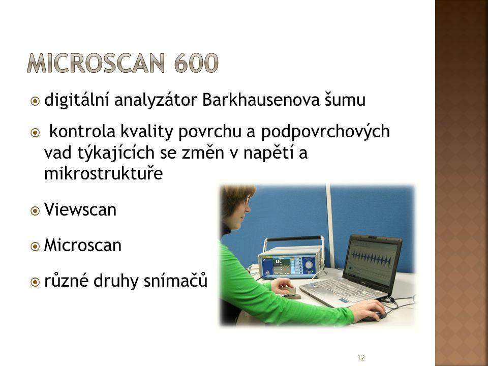 Microscan 600 digitální analyzátor Barkhausenova šumu