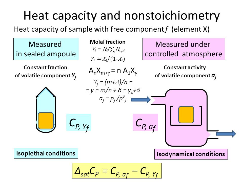 Heat capacity and nonstoichiometry