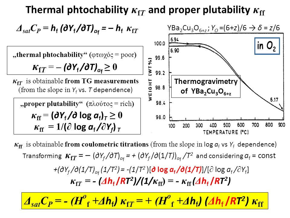 Thermal phtochability κfT and proper plutability κff