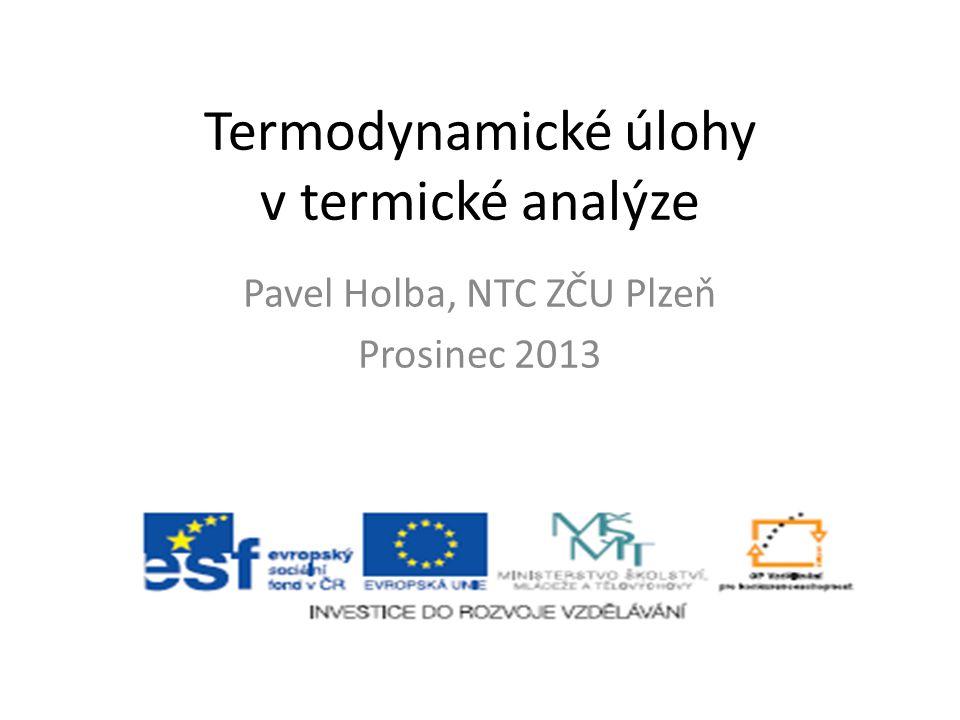 Termodynamické úlohy v termické analýze