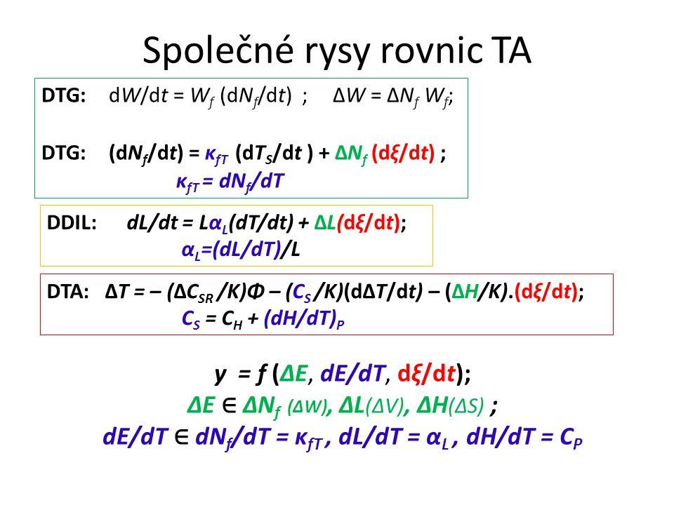 Společné rysy rovnic TA