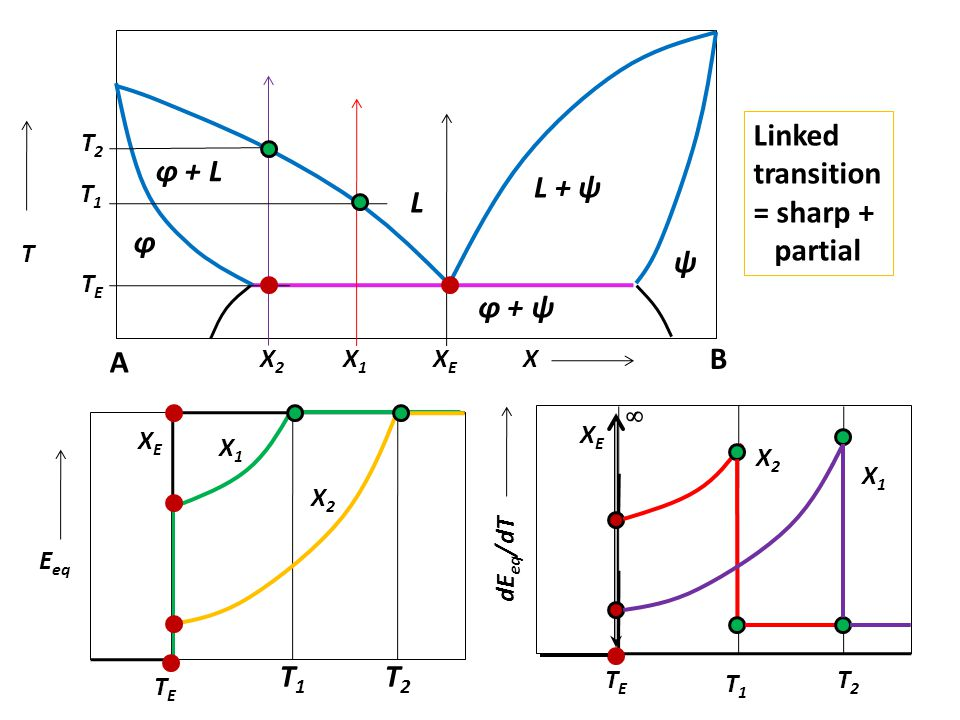 Linked transition = sharp + partial φ + L L + ψ L φ ψ φ + ψ A B ∞ T1