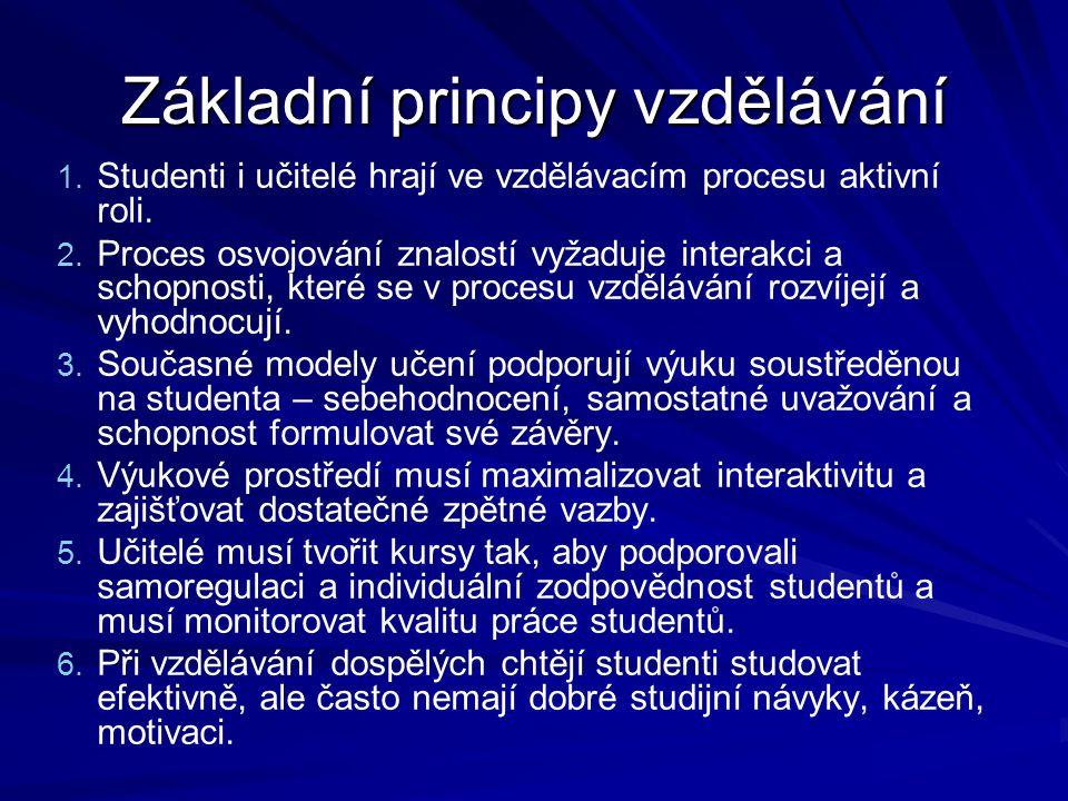 Základní principy vzdělávání