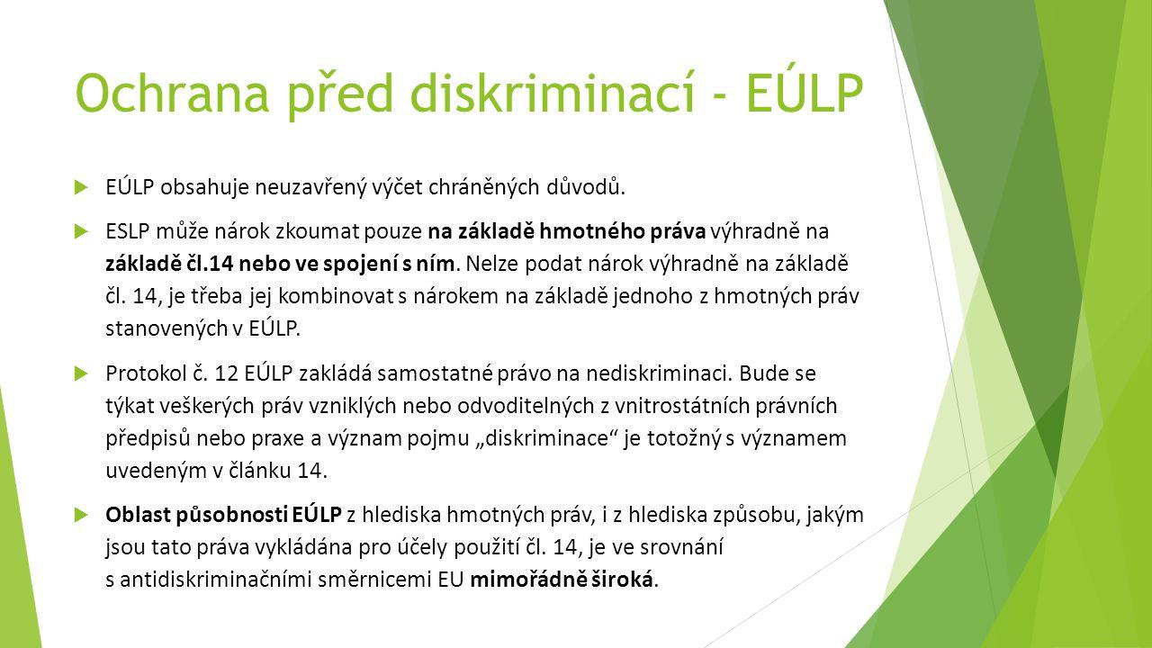 Ochrana před diskriminací - EÚLP