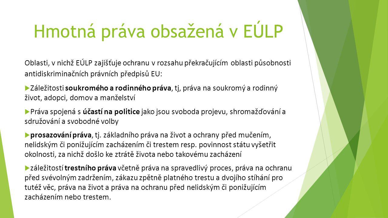 Hmotná práva obsažená v EÚLP