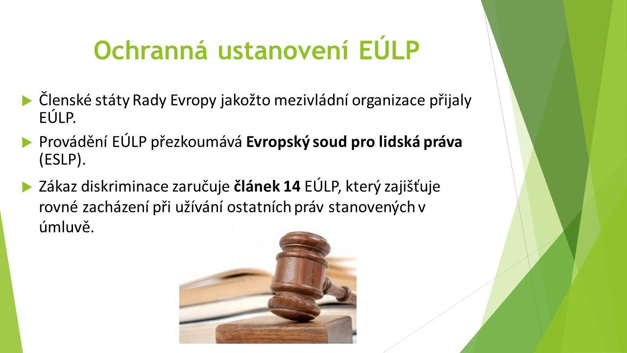 Ochranná ustanovení EÚLP