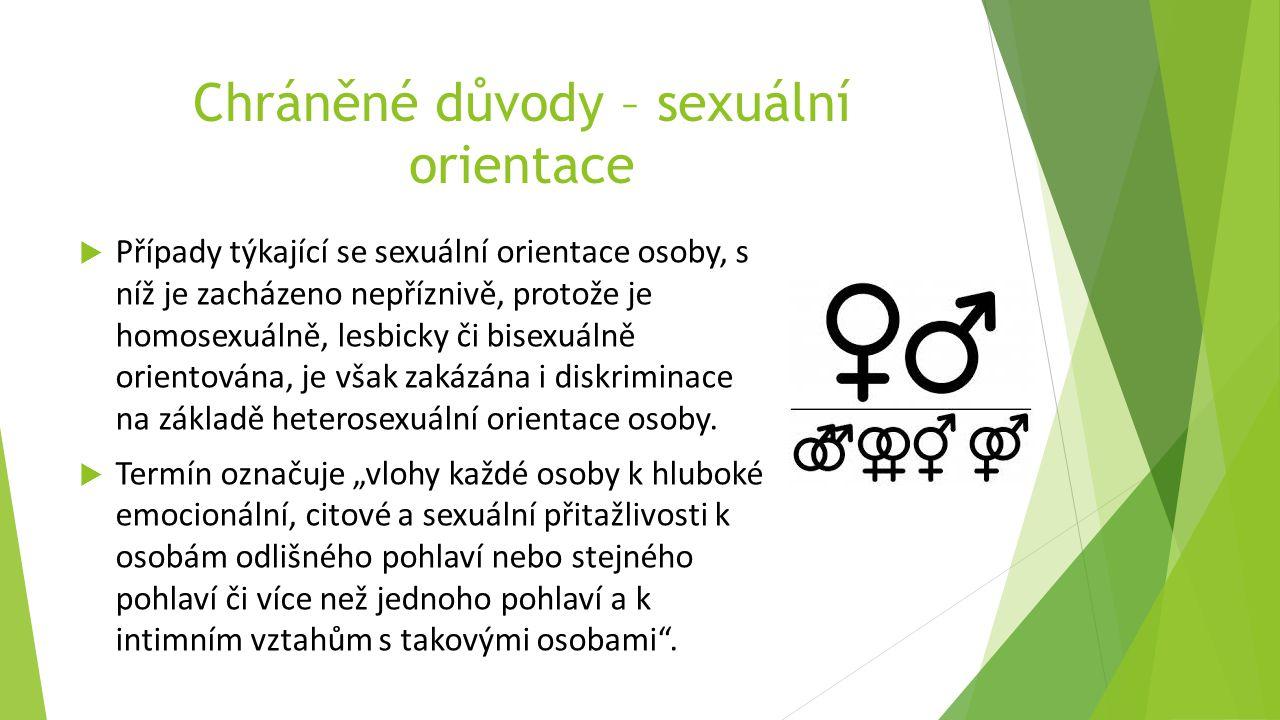 Chráněné důvody – sexuální orientace