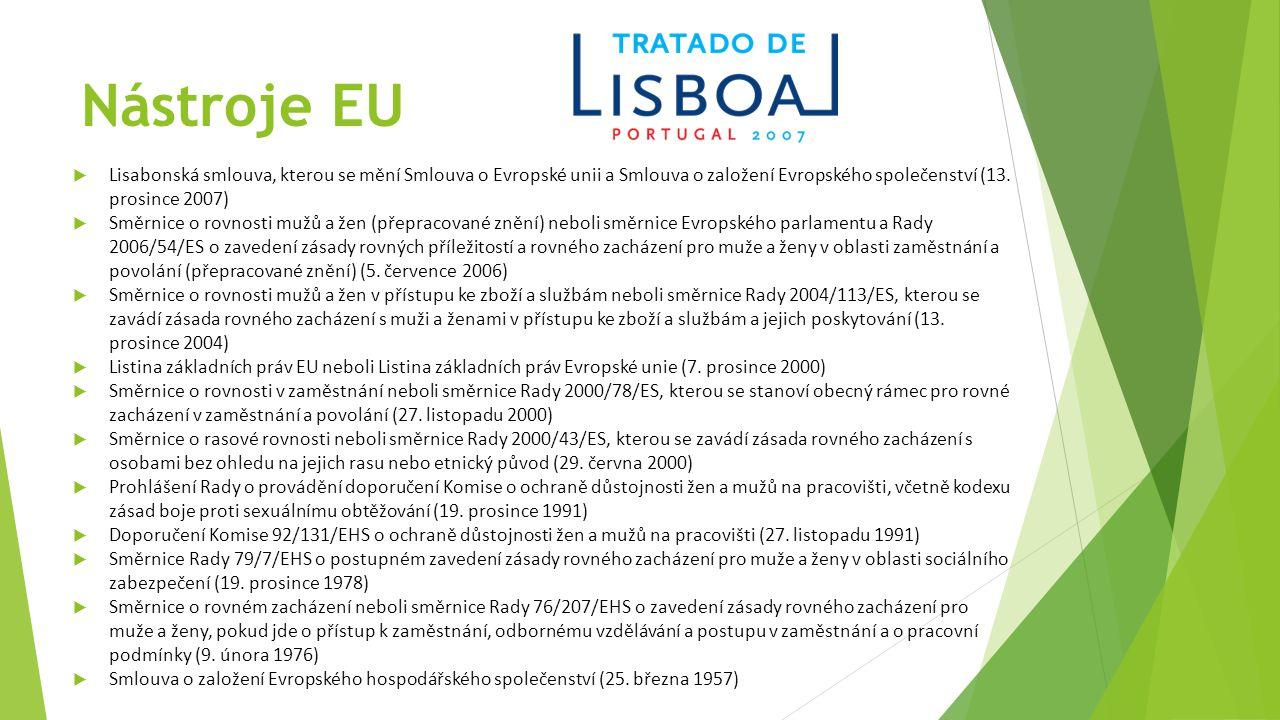 Nástroje EU Lisabonská smlouva, kterou se mění Smlouva o Evropské unii a Smlouva o založení Evropského společenství (13. prosince 2007)