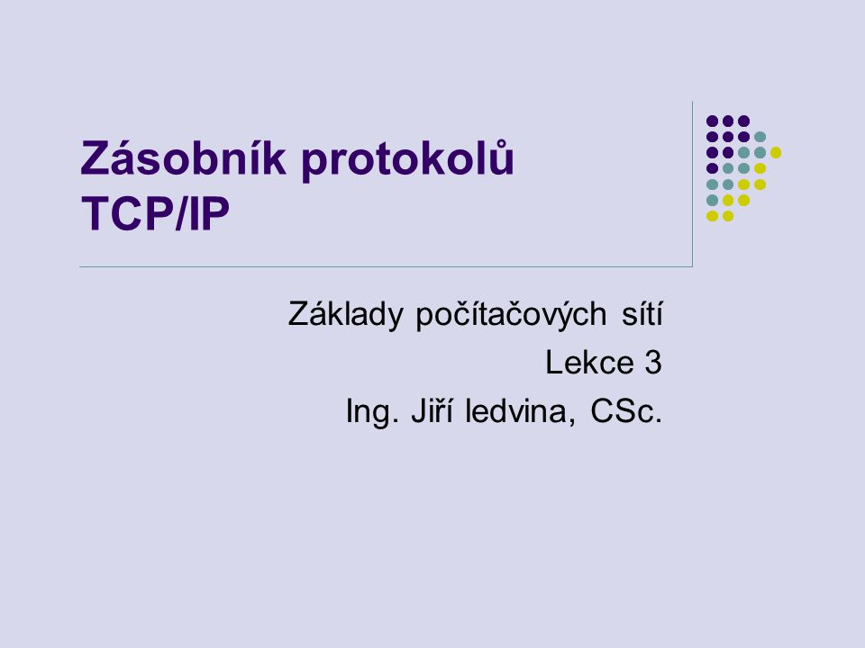 Zásobník protokolů TCP/IP