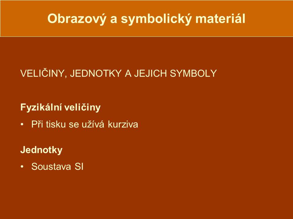 Obrazový a symbolický materiál