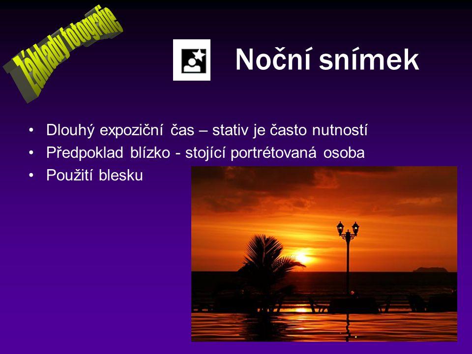 Noční snímek Základy fotografie