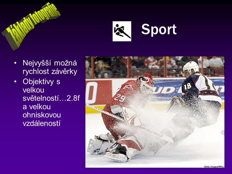 Sport Základy fotografie Nejvyšší možná rychlost závěrky