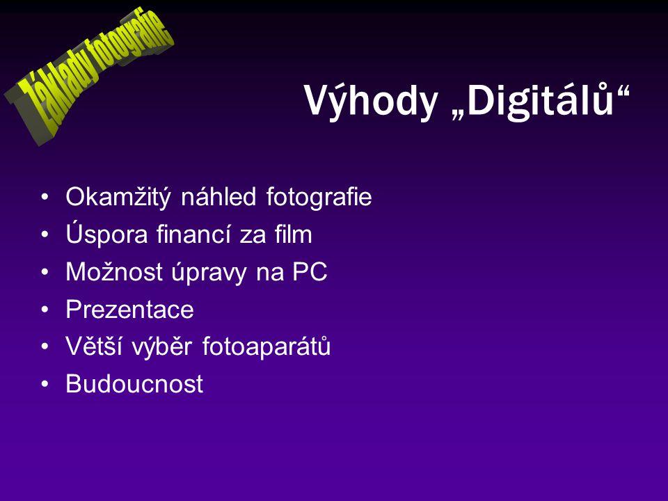 """Výhody """"Digitálů Základy fotografie Okamžitý náhled fotografie"""
