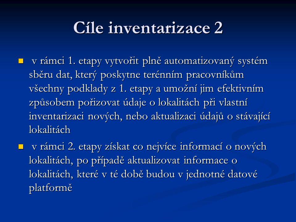 Cíle inventarizace 2