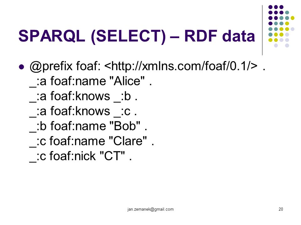 SPARQL (SELECT) – RDF data