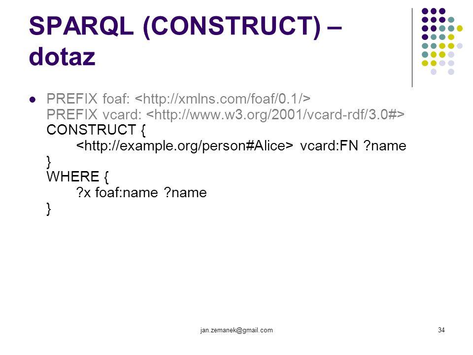 SPARQL (CONSTRUCT) – dotaz