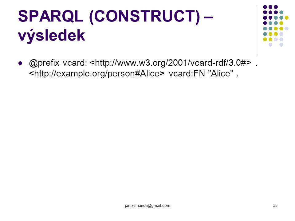 SPARQL (CONSTRUCT) – výsledek