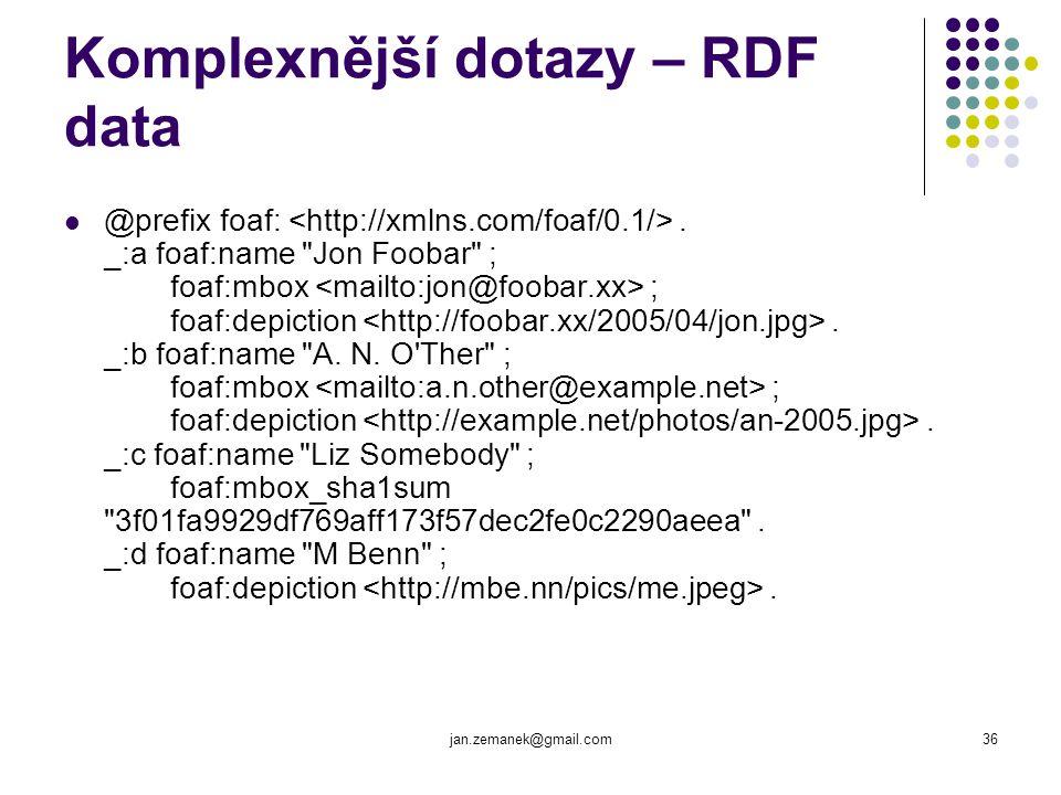 Komplexnější dotazy – RDF data