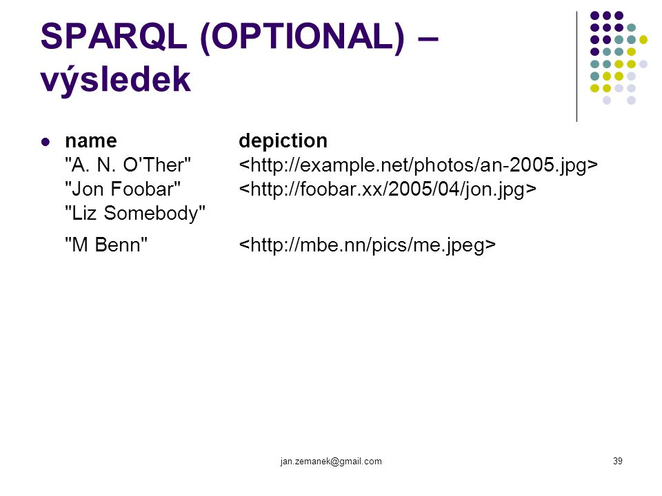 SPARQL (OPTIONAL) – výsledek
