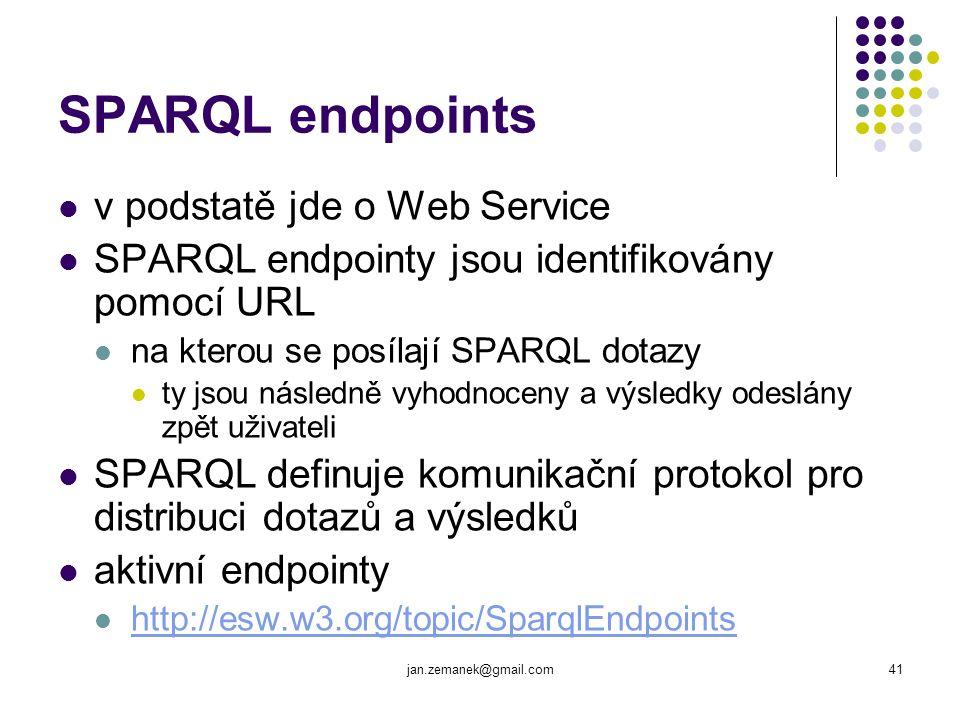 SPARQL endpoints v podstatě jde o Web Service