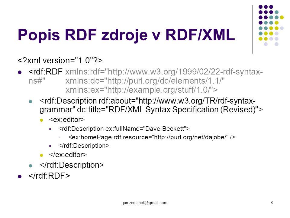Popis RDF zdroje v RDF/XML