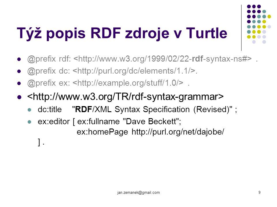 Týž popis RDF zdroje v Turtle