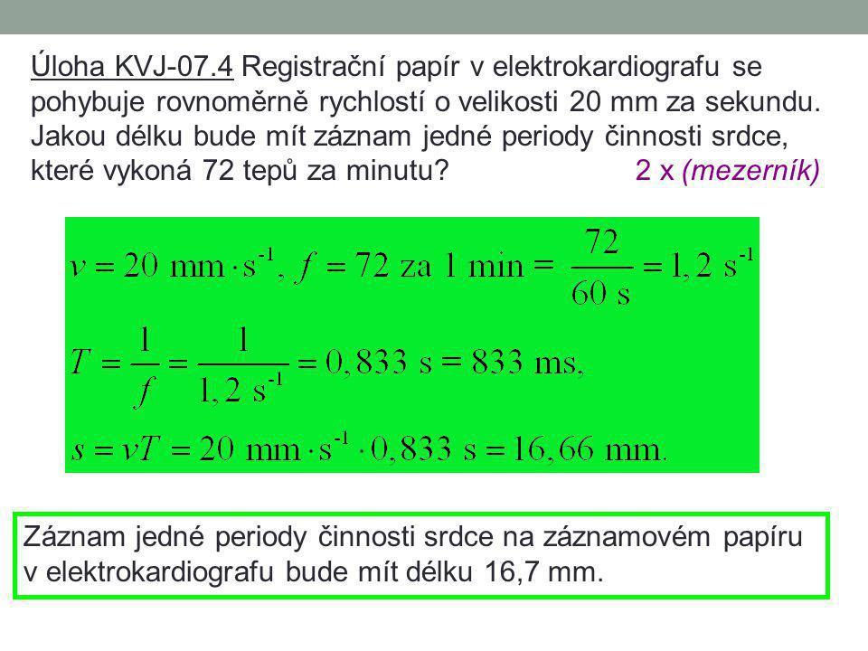 Úloha KVJ-07.4 Registrační papír v elektrokardiografu se
