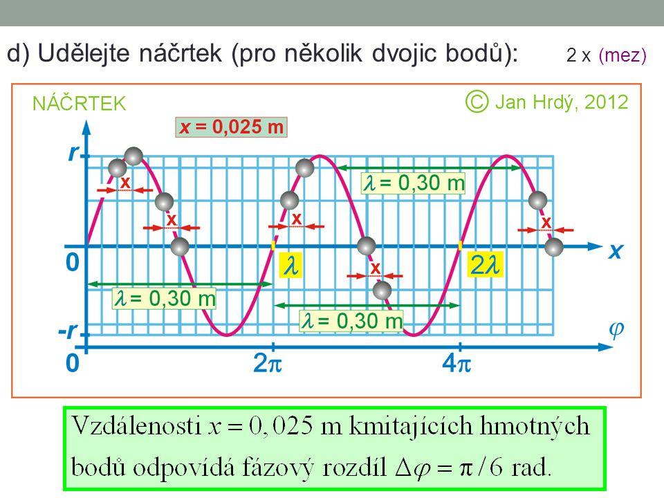d) Udělejte náčrtek (pro několik dvojic bodů): 2 x (mez)