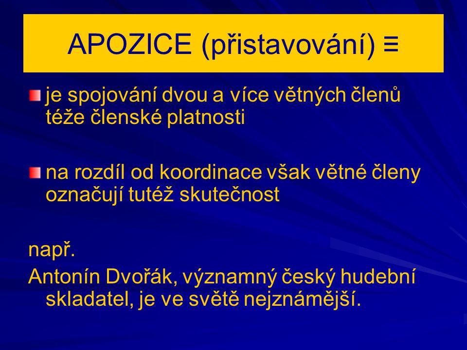 APOZICE (přistavování) ≡