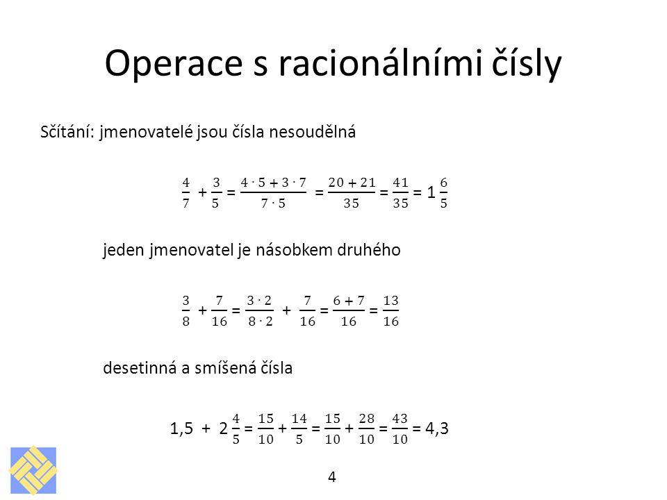 Operace s racionálními čísly