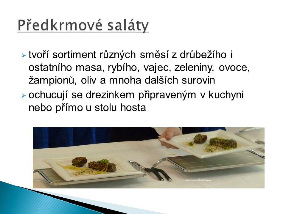 Předkrmové saláty