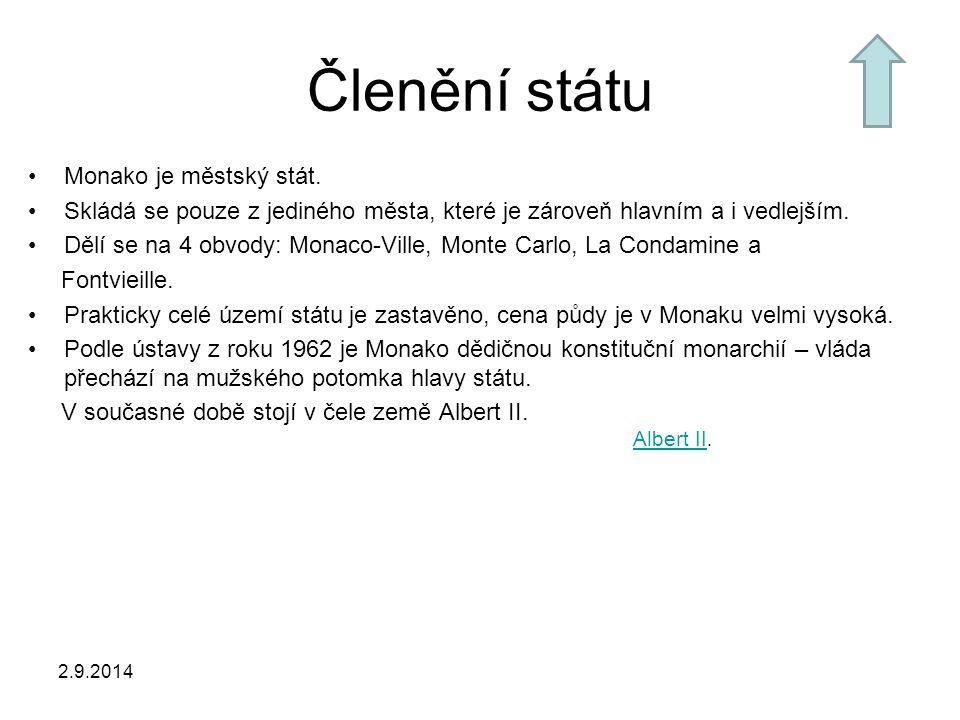Členění státu Monako je městský stát.