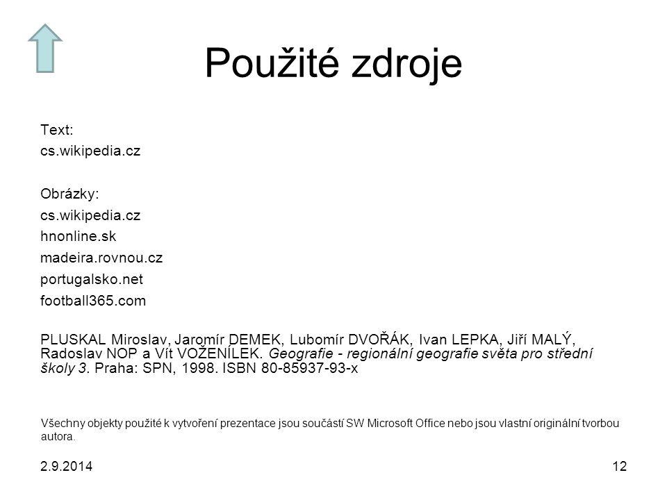 Použité zdroje Text: cs.wikipedia.cz Obrázky: hnonline.sk