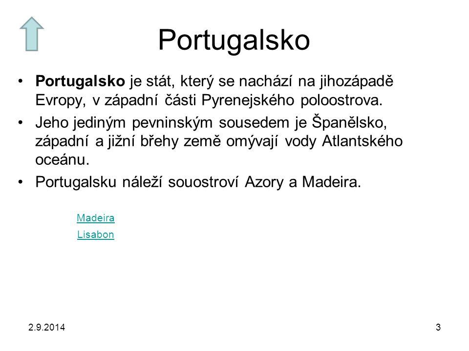 Portugalsko Portugalsko je stát, který se nachází na jihozápadě Evropy, v západní části Pyrenejského poloostrova.