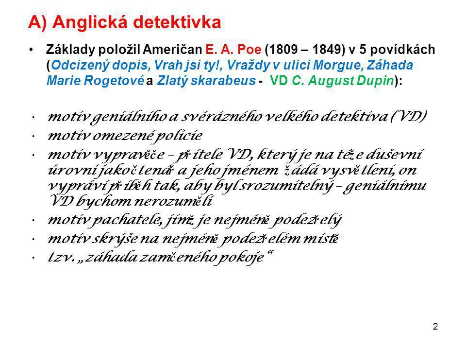 A) Anglická detektivka