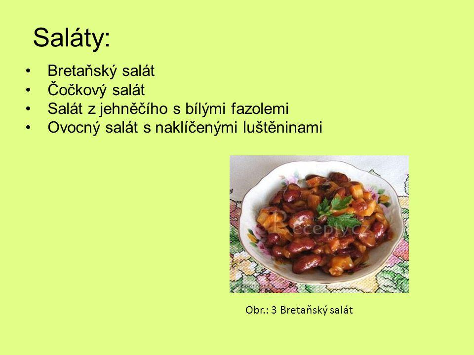 Saláty: Bretaňský salát Čočkový salát