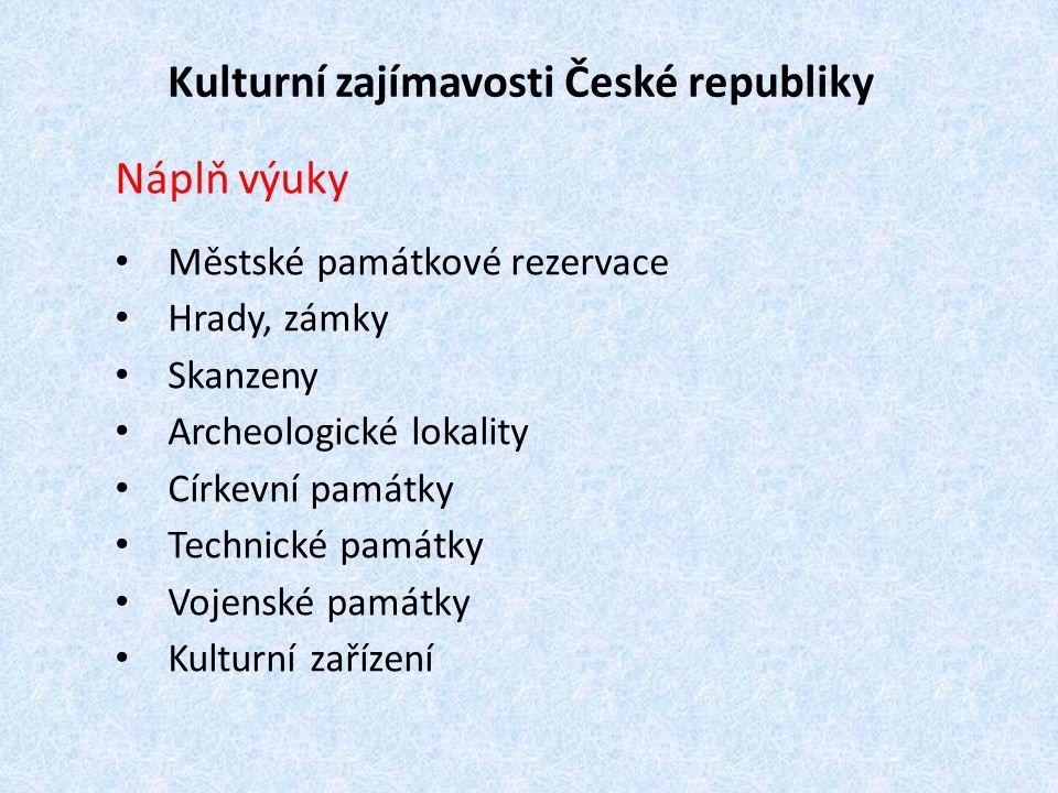Kulturní zajímavosti České republiky
