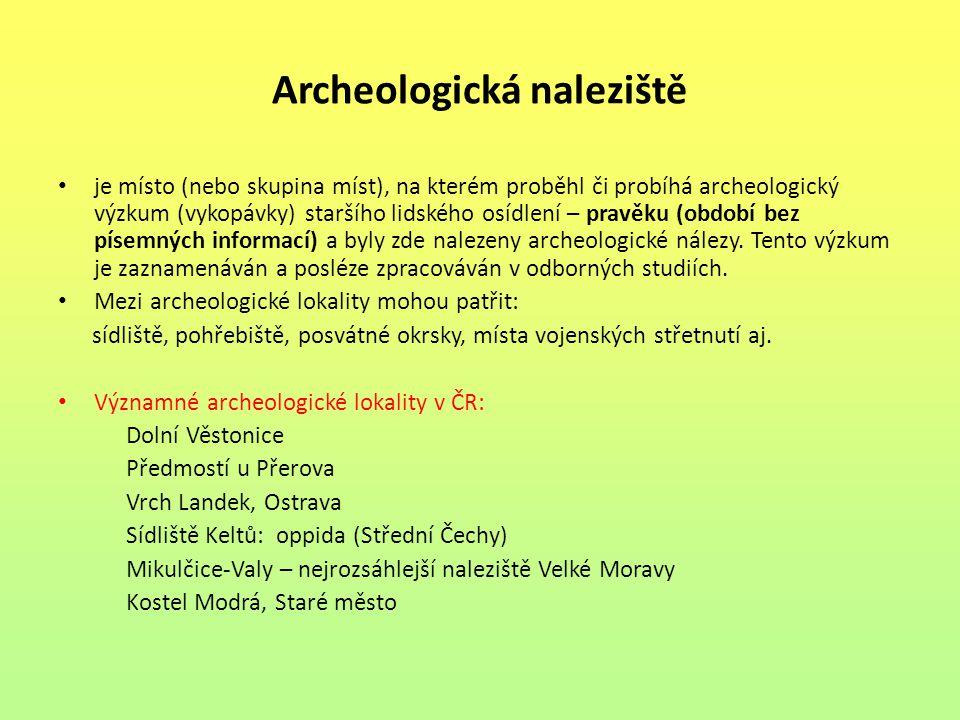 Archeologická naleziště