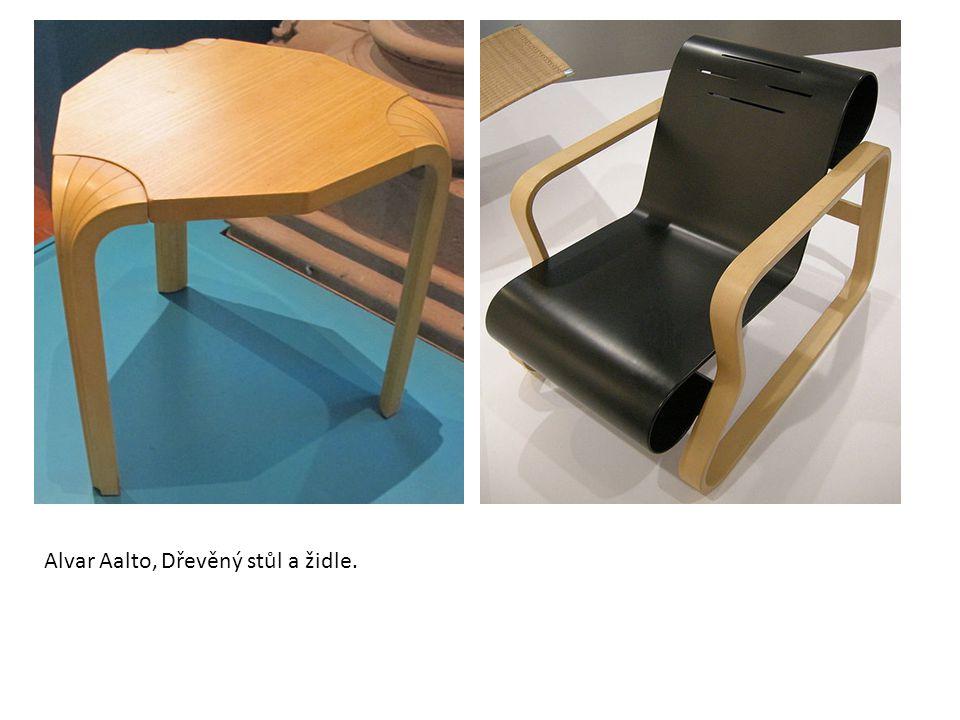 Alvar Aalto, Dřevěný stůl a židle.
