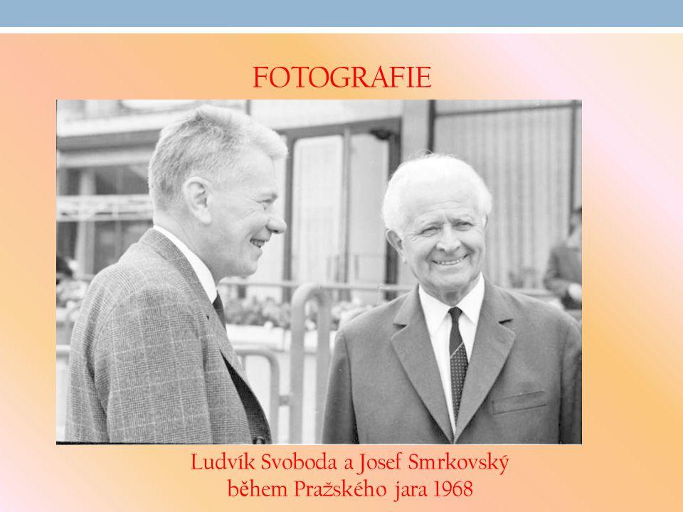 Ludvík Svoboda a Josef Smrkovský během Pražského jara 1968