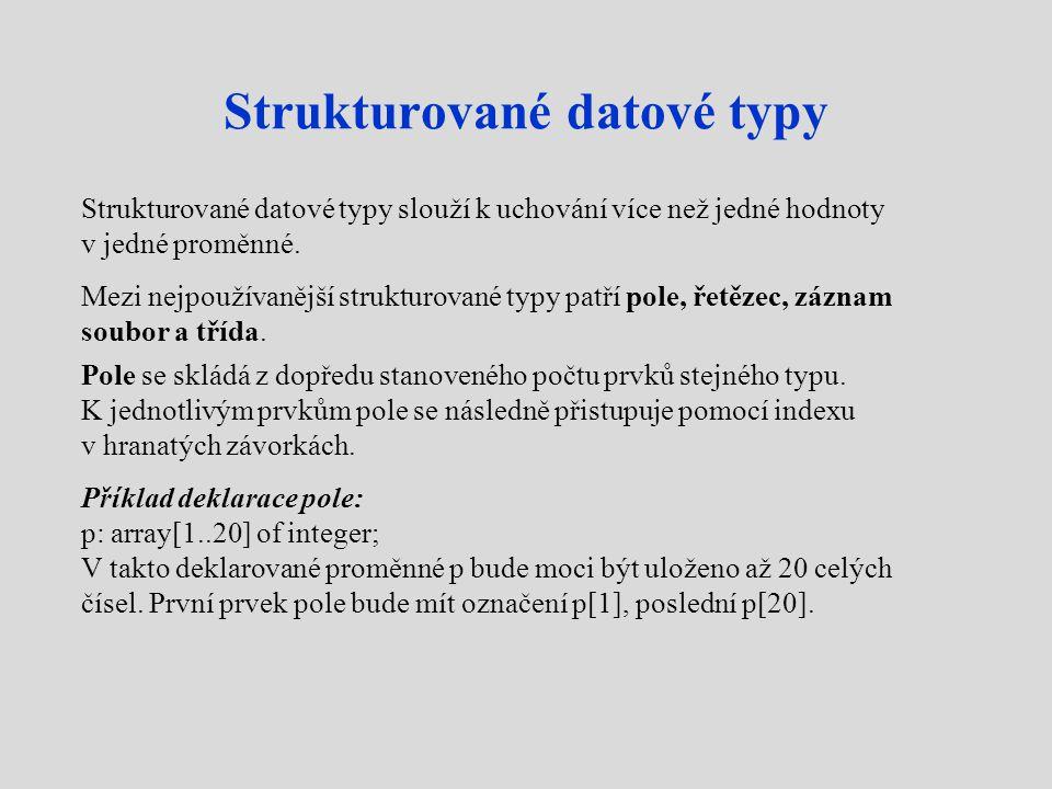 Strukturované datové typy